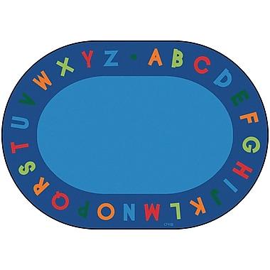 Carpets for Kids Circletime Bule Alphabet Primary Area Rug; Oval 6' x 9'