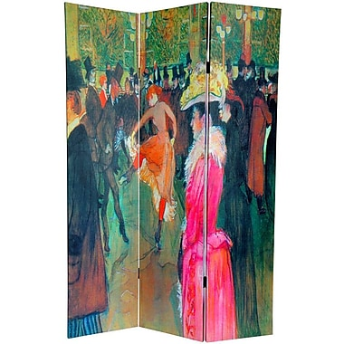 Oriental Furniture 70.88'' x 47.25'' Works of Toulouse-Lautrec 3 Panel Room Divider