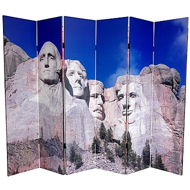 Oriental Furniture 72'' x 106.5'' Double Sided Monuments 6 Panel Room Divider