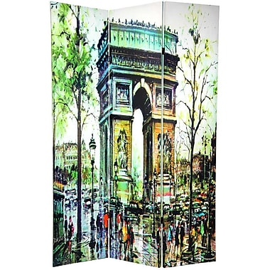 Oriental Furniture 70.88'' x 47'' Double Sided Paris 3 Panel Room Divider