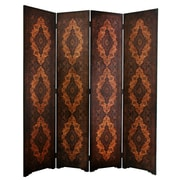 Oriental Furniture 72'' x 63'' Olde-Worlde Classical 4 Panel Room Divider