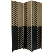 Oriental Furniture 70.75'' x 52.5'' Woven Fiber 3 Panel Room Divider