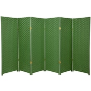 Oriental Furniture 48'' x 96'' Woven Fiber 6 Panel Room Divider