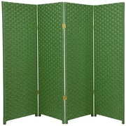 Oriental Furniture 48'' x 64'' Woven Fiber 4 Panel Room Divider