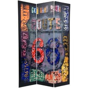 Oriental Furniture 71.25'' x 47.25'' Double Sided Americana 3 Panel Room Divider