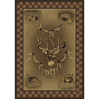 Marshfield Marshfield Whitetail Ridge Novelty Area Rug; 1'10'' x 3'