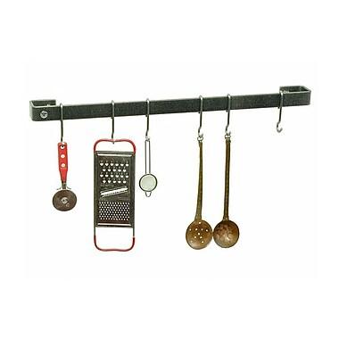 Enclume Premier Wall Mounted Pot Rack; Hammered Steel