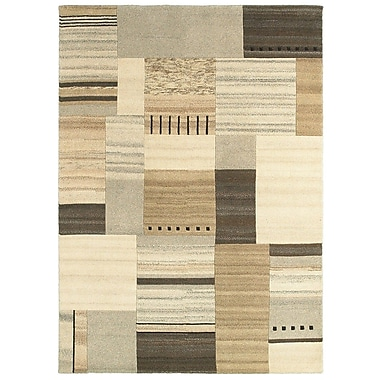 LR Resources Kasteli Natural Beige Rug; 8' x 10'