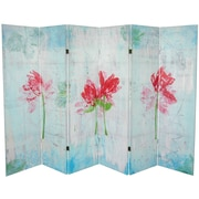 Oriental Furniture 63'' x 94.5'' Spring Morning 6 Panel Room Divider
