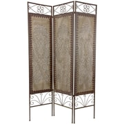 Oriental Furniture 70.5'' x 46.5'' Mediterranean 3 Panel Room Divider