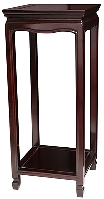 Oriental Furniture Oriental Multi-Tiered Plant Stand; Dark Rosewood