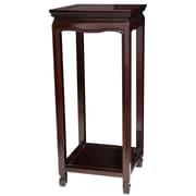 Oriental Furniture Oriental Multi-Tiered Plant Stand; Dark Rosewood