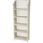 Oriental Furniture 53'' Accent Shelves Bookcase; White