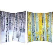 Oriental Furniture 70.88'' x 63'' Trees 4 Panel Room Divider
