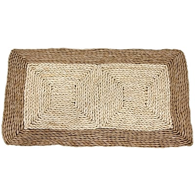 Oriental Furniture Rush Grass and Maize Two Tone Dark Ivory Area Rug; 1'6'' x 2'7''