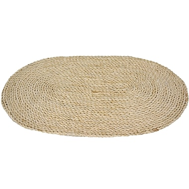 Oriental Furniture Maize Natural Oval Area Rug; Oval 1'6'' x 2'6''