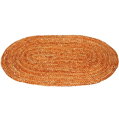 Oriental Furniture Maize Honey Oval Area Rug; Oval 1'6'' x 2'6''