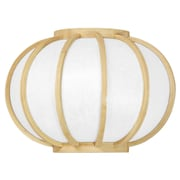 Oriental Furniture Harajuku Design Round Wall Sconce; Natural