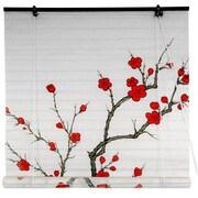 Oriental Furniture Blossom Shoji Rice Paper Roller Blind; 48'' W x 72'' L