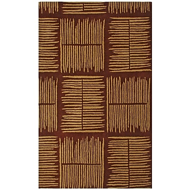 St. Croix Structure Thatch Burgundy Rug; Rectangle 5' x 8'