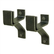 Enclume USA Handcrafted 4'' Wall Bracket for Rolled End Bar (Set of 2); Stainless Steel