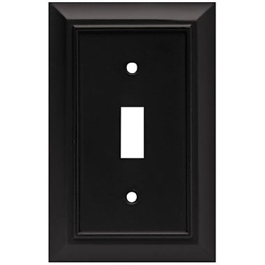 Brainerd Architectural Single Switch Wall Plate; Flat Black
