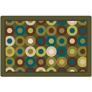 Carpets for Kids Calming Circles Nature's Colors Kids Area Rug; Oval 6' x 9'
