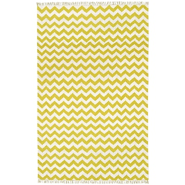 St. Croix Hacienda Yellow/Ivory Chevron Area Rug; 9' x 12'