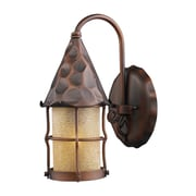 Landmark Lighting Rustica 1-Light Outdoor Wall Lantern; Antique Copper