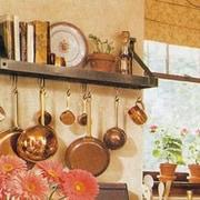 Enclume USA Handcrafted Gourmet Bookshelf Wall Mounted Pot Rack; Copper