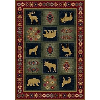 United Weavers of America Genesis Green/Red Dakota Area Rug; 3'11'' x 5'3''