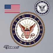 Fathead Military United States Navy Insignia Wall Decal