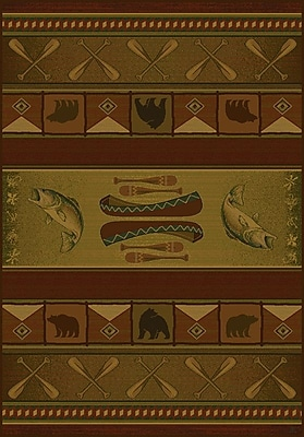 United Weavers of America Genesis Green Colorado Lodge Area Rug; 3'11'' x 5'3''