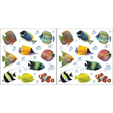 Brewster Home Fashions Euro Fish Wall Decal Set