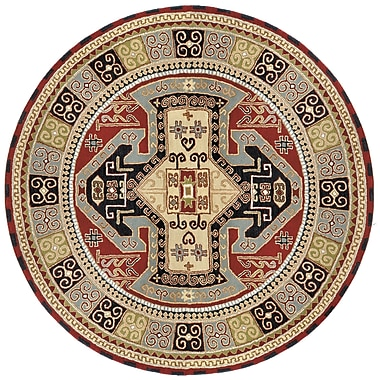 St. Croix Traditions Sparta Navy/Red Rug; Round 6'