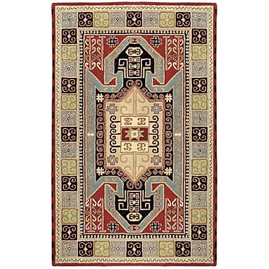 St. Croix Traditions Sparta Navy/Red Rug; Rectangle 5' x 8'