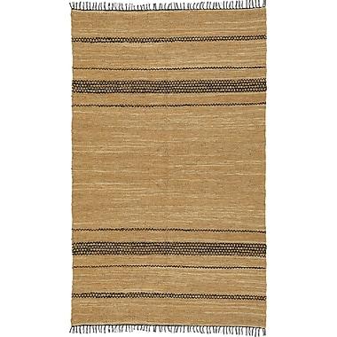 St. Croix Matador Leather Chindi Black/Tan Area Rug; 10' x 14'
