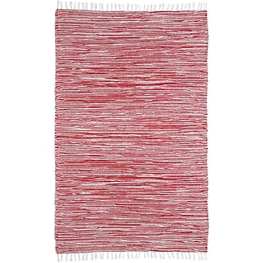 St. Croix Complex Red Area Rug; 4' x 6'