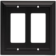 Brainerd Architectural Double Decorator Wall Plate; Flat Black