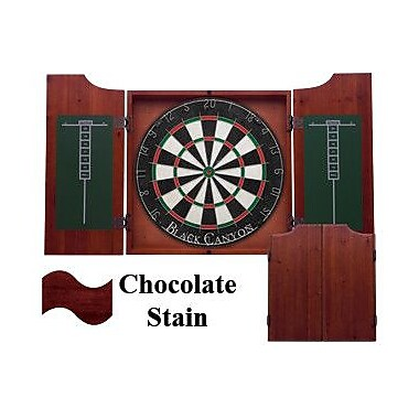 Black Canyon Dart Board Cabinet in Chocolate