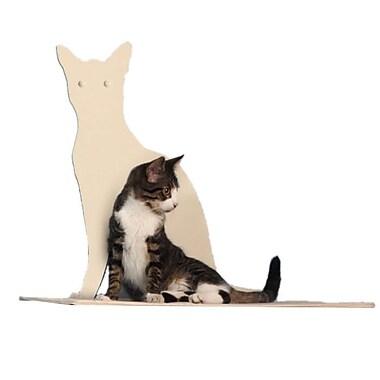 The Refined Feline Silhouette Cat Perch; Off-White