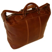 Floto Imports Piana 17'' Leather Travel Duffel; Vecchio Brown
