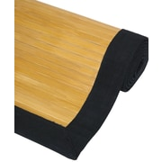 Oriental Furniture Bamboo Rayon Natural Area Rug; 2' x 3'
