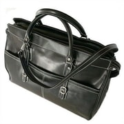 Floto Imports Casiana 21'' Leather Travel Duffel; Black