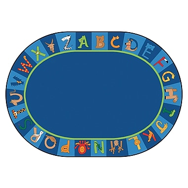 Carpets for Kids Printed A to Z Animal Area Rug; Oval 8'3'' x 11'8''
