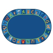 Carpets for Kids Printed A to Z Animal Area Rug; Square 12'