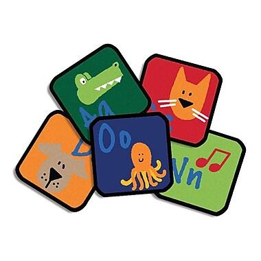 Carpets for Kids Learning Blocks Kids Rug (Set of 26); Square 1'