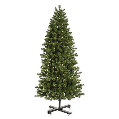Vickerman Grand Teton 9.5' Slim Green Artificial Christmas Tree w/ 1000 LED White Lights