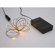 Vickerman 24 Light BO Timer Micro LED Battery Light Set; Orange