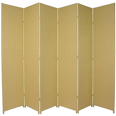 Oriental Furniture 84'' x 96'' 6 Panel Room Divider; Dark Beige